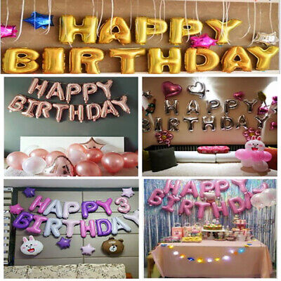 Happy Birthday Self Inflating Baloon Banner Bunting Birthday Party Decoration Uk