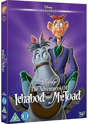 The Adventures Of Ichabod And Mr Toad Disney Dvd & O Ring Slip Cover Sleeve New