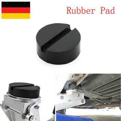 2X Standard Size Universal Slotted Rubber Jack Pads Frame Rail Protector Schwarz