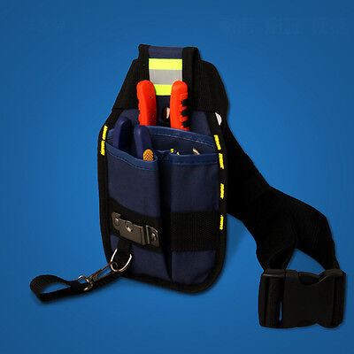 Top Professional 3-Pocket Electrician Tool Belt Utility Pouch Tools Bag Buckle