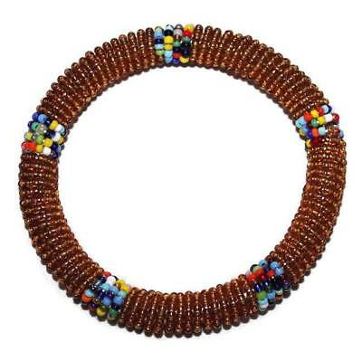 African Maasai Masai Beaded Bracelet Bangle - Kenya Jewelry #04