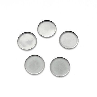 20 x Stainless Steel 20mm Round Cabochon Tray Bezel Settings - Dark Silver Tone