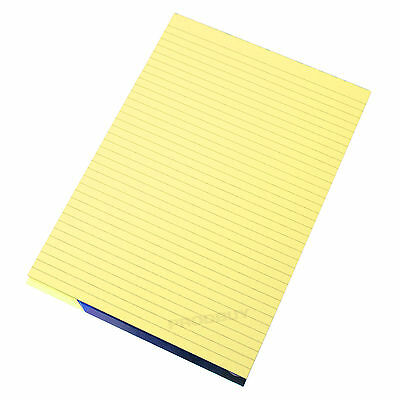 Visual Memory Aid A4 Yellow 100 Page Paper Notepad Refill Memo Lined Writing Pad