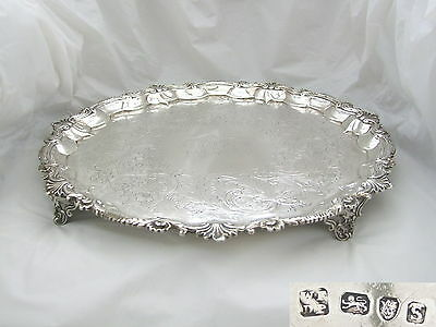 RARE GEORGE III HM STERLING SILVER SALVER 1793 61.0  oz