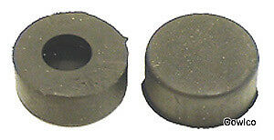 Front Pair 1940-81 GM Car /& Truck Round Hood Stop Stopper Bumper Rubber
