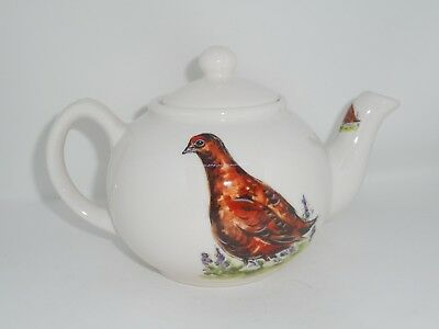 BN Small Cream Pottery Pheasant Teapot, Two Cup Teapot, Small Pint Teapot