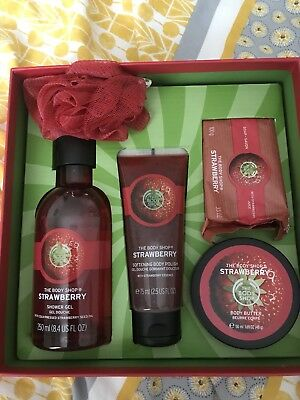 The Body Shop Strawberry Collection Gift Set, new