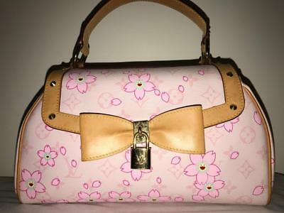 Authentic Louis Vuitton Cherry Blossom Sac Retro Bag Pink Purse Murakami Limited