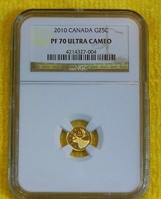 2010 G25C Canada Gold Caribou NGC PF70 UC