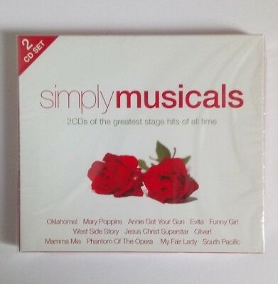 Simply Musical 2 Cd Songs From The Greatest Stage Hits New & Sealed