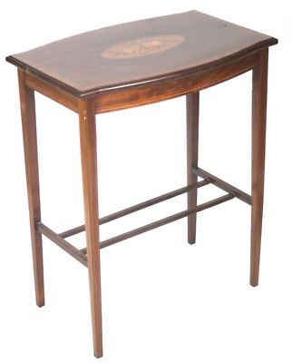 Antique Marquetry Inlaid Mahogany Occasional Table [PL4351]