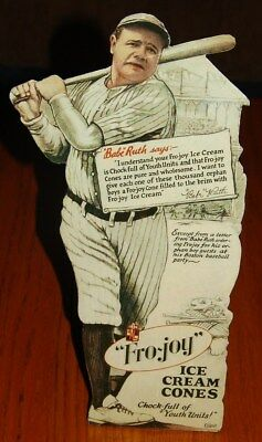 Babe Ruth 1930-1931 FRO-JOY ice cream repro mini counter standee NICE