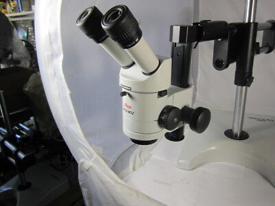 Leica Wild M3Z Stereo Zoom Binocular Microscope On Boom Stand