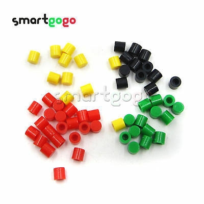 100PCS Tact Tactile Push Button Touch Button Switch Cap Mutil-Color for 6x6 BSG