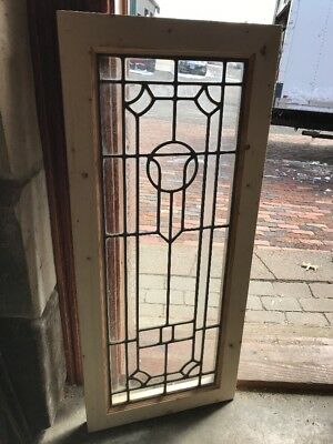 SG 2236 antique textured and clear glass vertical window 16 x 37