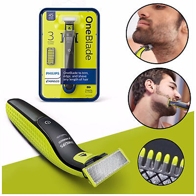 Philips Norelco OneBlade QP2520/90 Hybrid Electric Men Shaver Trimmer One Blade