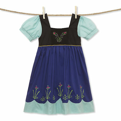 Embroidered Snow Sister Princess dress NEW * boutique Ana smocked Frozen *