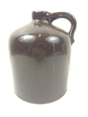 Antique Stoneware Beehive Brown Jug Moonshine Whiskey Country Primitive Crock