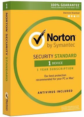 Norton Internet Security Standard 2018 1 Device  1 Year PC MAC Android DOWNLOAD