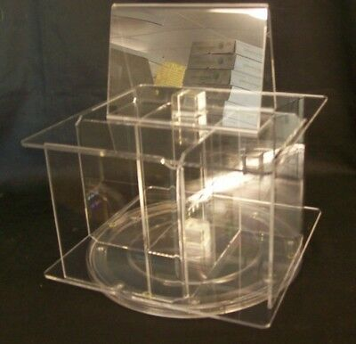Store Display Fixtures NEW COUNTER TOP CD ACRYLIC DISPLAY Holds 24 CDS