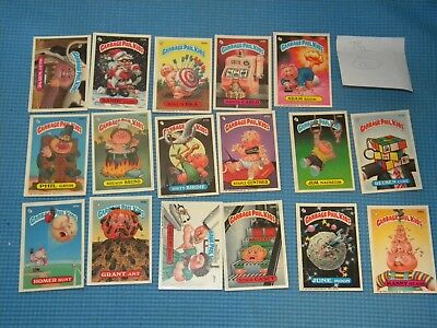 Lot of 17 Series 7 1987 Topps Chewing Gum Inc Garbage Pail Kids Cards O10