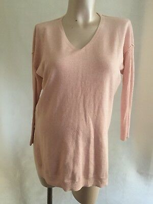 [548] Red Herring Maternity Pink Jumper Style Top in Size 12