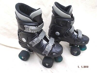 California Quad Roller Skates,size 3 Uk,good Cond,3 Straps,well Padded,clean
