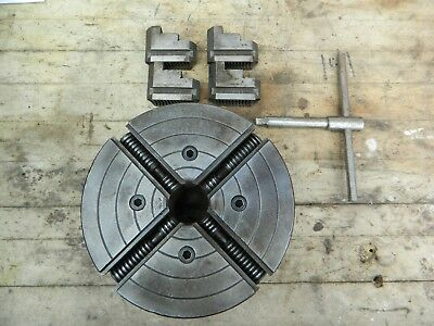 "South Bend Skinner 6"" 4 Jaw Independent Chuck 4006-45 1-1/2"" 8 TPI ATLAS LOGAN"