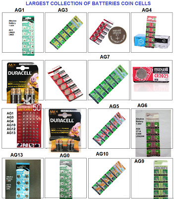 Batteries Cells Alkaline Button Toys Watch Battery Coin Cell AA AAA AGX 2032 AG4