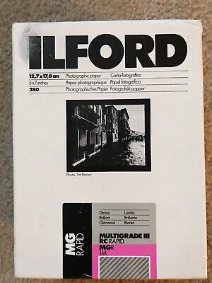125 Sheets ILFORD MULTIGRADE IIi (12,7 x 17,8 cm)