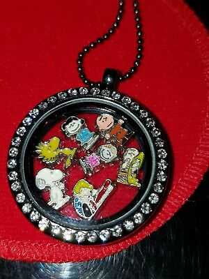 Peanuts Floating Charm Necklace Snoopy, Charlie Brown, Lucy, Woodstock, Linus,