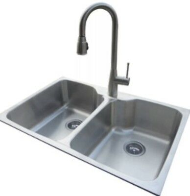 American Standard Stainless Steel Sink Kit With Brushed Nickel