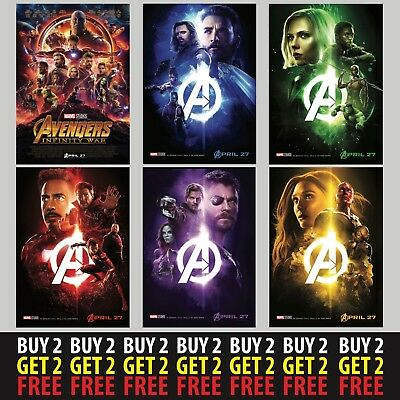 *NEW* MARVEL AVENGERS INFINITY WARS POSTERS A4/A3 300gsm Movie Wall Deco Fan Art