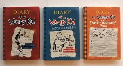 Lot of 8 diary of a wimpy kid jeff kinney 2 hardback 6 lot 3 diary of a wimpy kid hardcover books jeff kinney 1 solutioingenieria Image collections