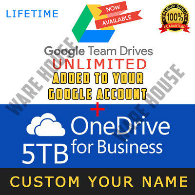 Google Drive Unlimited added to your Account + OneDrive 5TB Lifetime - PROMOTION