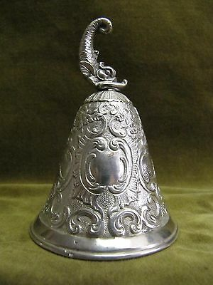 Charming 19th c german silver (800) ring rococo st 87gr (dolphin knop)