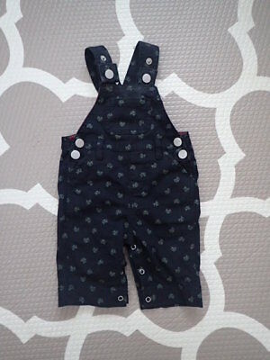 Pumpkin Patch Overalls 000 0-3 months black with green banicoots pop button crot
