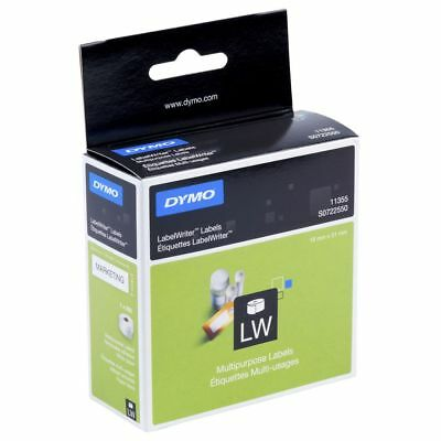 6 x Dymo LabelWriter SD11355 19mm x 51mm Multi Purpose removable Labels Genuine