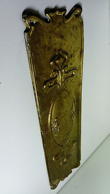 Art Nouveau Brass Door  Finger Plate
