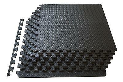 EXERCISE FLOOR MAT Fitness Puzzle Rug Gym Pad Workout Equipment - Weight lifting floor pads