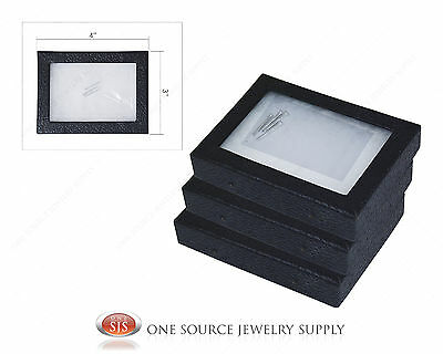 "3 New Riker Display Mounting Boxes Riker Boxes Riker Display Cases X-Small 4""x3"""