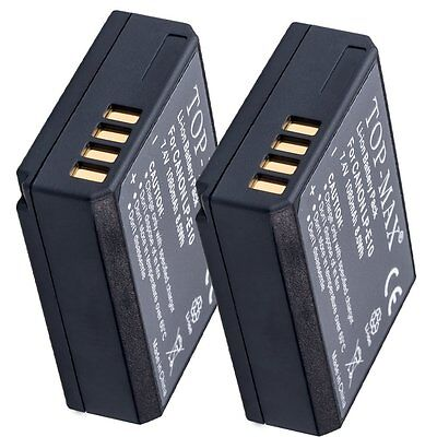 2X Battery For CANON LP-E10 LPE10 EOS 1100D 1200D KISS X50 Rebel T3 Camera