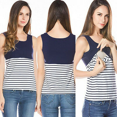 USA Women Maternity Clothes Breastfeeding Tops Nursing Sleeveless T-shirt Tank