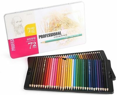 Best Colored Pencils-72 Coloring Pencil Set With Case Professional Artist Sketch