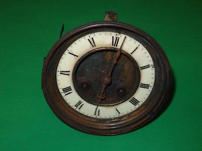 "French Mantel Clock Movement  3.75"" Dial For Restoration"