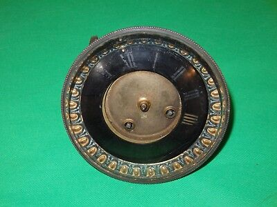 "French Mantel Clock Movement Japy Freres 4"" Dial For Restoration"