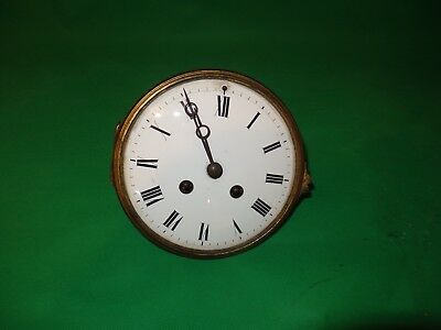 "French Mantel Clock Movement Jap Y Freres 5.25"" Dial  For Restoration"