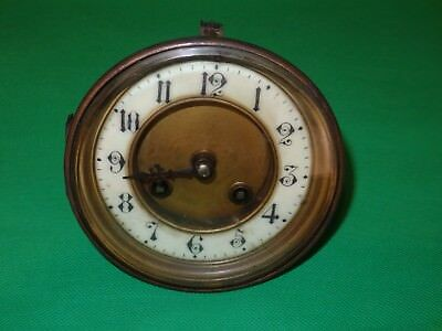 "French Mantel Clock Movement  Freres 3.75"" Dial Needs Restoration"