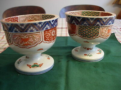 Antique Imari Haisen Rare Pair Finely Decorated 19th C. Meiji Unusual Find