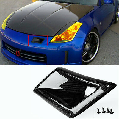 100% Carbon Fiber Air Vent Intake Duct Left Side For Nissan 350Z Z33 2003-2009
